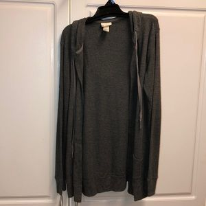Everyday charcoal gray cardigan